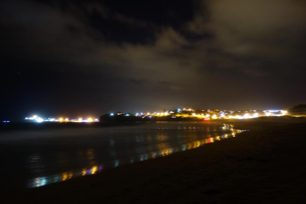 Bombo beach night